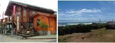 アルカディアランドハウス本社外観と鹿島灘の眺め